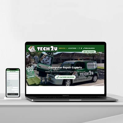 Tech 2u Website Design